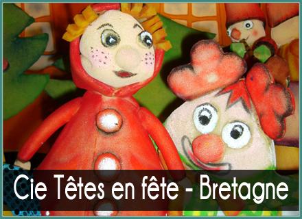 Têtes en fête Rennes  - spectacles de marionnettes & maquillage
